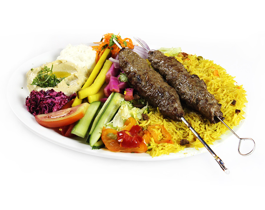 Ground Beef Kebab Plate